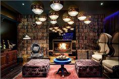 Cosy reading lounge at Majeka House, Stellenbosch