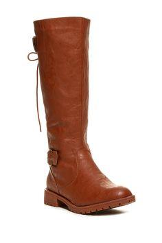 Lace-Up Back Riding Boot
