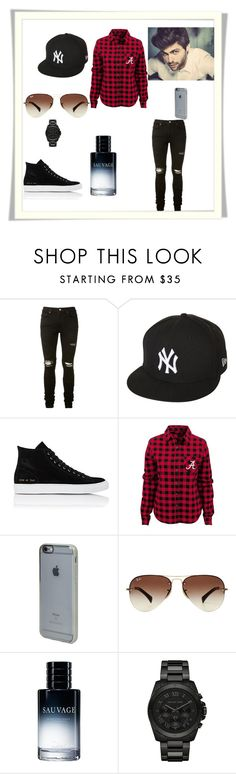 """""""Sans titre #820"""" by tva-lpz ❤ liked on Polyvore featuring AMIRI, New Era, Common Projects, Incase, Ray-Ban, Christian Dior, Michael Kors, men's fashion and menswear"""