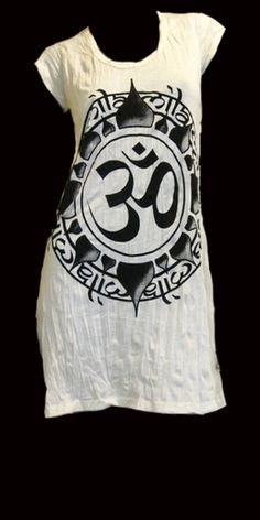 Infinity Om Tunic Tee - White - L - White : SpiritVoyage