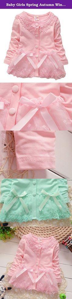 "Baby Girls Spring Autumn Winter Baby Coat Jackets Cardigan 18-24Months Pink. Size information ---------------------------------------------------------------------- |----Size-----|----Length---|----Chest----|--Shoulder--|---Sleeve----| ---------------------------------------------------------------------- | 6-12 Months | 33cm/12.99"" | 50cm/19.69"" | 23cm/9.06"" | 25cm /9.84"" | ---------------------------------------------------------------------- | 12-18Months | 35cm/13.78"" | 52cm/20.47"" |..."