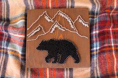 Mountain Bear String Art
