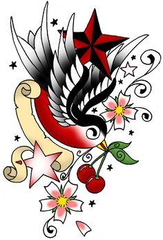 Pictures+Of+Swallow+Tattoo+Designs+Bird+Compass+Design++PelautsCom