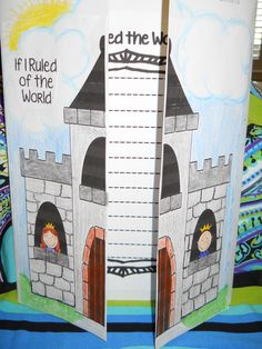This castle writing activity is featured in our Royal Classroom for Back to School unit, No worries...the error in the title was revised before posting!!