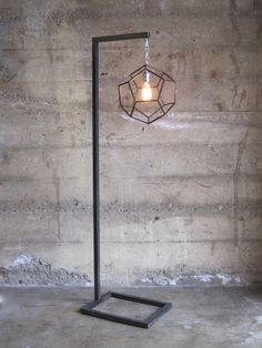 dodecahedron lamp - Zai Divecha - geometric welded metal lamp