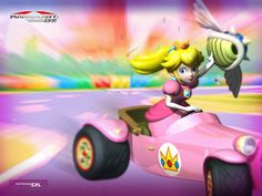 Princess Peach Mario Kart Nice Wallpaper