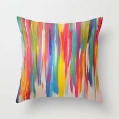 Color Blast Throw Pillow by bkraftydesigns | Society6