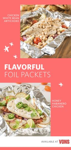 Simplify your summer dinner routine with these two flavorful tinfoil packet recipes! Both feature Signature Farms™ chicken breast and are perfect for your next summertime dinner party. Whether you love the spicy-sweet combination of the Tinfoil Honey-Habanero Chicken Packet or the classic and savory flavors of the Tinfoil Chicken, White Bean & Artichoke Packet, these two summer recipes are best enjoyed outside!