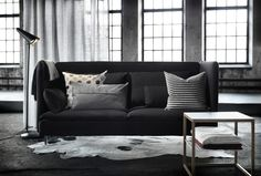 The SÖDERHAMN REPLOSA has simple, oversized, geometric forms that look great in any loft space.