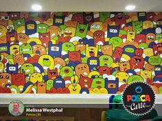 """O mural de """"cuti-cutices"""" da Melissa Westphal levou o POSCA Curte dessa vez. Ela é de Pelotas (RS) e tá de parabéns pela arte!"""