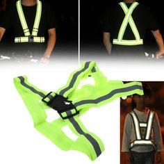 Reasonable High Visibility 360 Reflective Led Flash Bike Vest Adjustable Night Running Cycling Vest Outdoor Safety Vest Packing Of Nominated Brand Cycling Vest