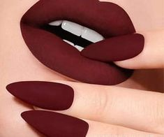 Oxblood Lipstick Oxblood is a shade that looks fabulous on every woman. It is a dark shade of red tinged with dark brown and purple undertones Picture Credit shades lipsticks collection lipsticks lipstick lipstick Matte Lipstick Shades, Makeup Lipstick, Oxblood Nails, Black Lipstick, Liquid Lipstick, Red Lips, Makeup Kit, Beauty Makeup, Makeup Ideas