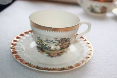 B12 Vintage Cronin China Co Tea Coffee Cup and by CRAZYMARYSFINDS
