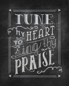chalkboard hymns