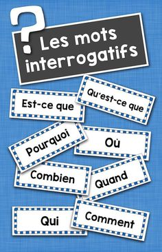 Les mots interrogatifs: French Interrogatives Word Wall Cards