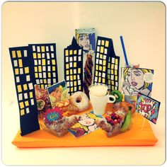 A #PopArt #Morning Today for our of  #BEST #instagram#Friend & #follower #Comics#sugarcraft#chocolate #croissant#donuts#cornetto agli Agrumi##NYC#lichteinstein#paint#modern#art#MoMa#breakfastTable#Skyscrapers#USA#new#Cappuccino#nutella