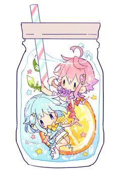 Shino Hajime and Himemiya Tori Manga Anime, Pelo Anime, Anime Chibi, Manga Art, Anime Guys, Anime Art, Chibi Kawaii, Manga Kawaii, Cute Chibi