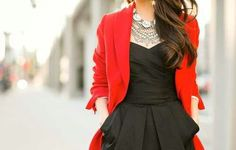 Beautiful strange necklace with the classic black and red combo