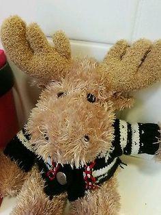 Cute Xmas reindeer plush bear toy comforter great xmas gift