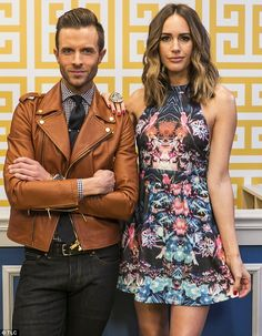 Justice: On new TLC series Style By Jury, fashion felons who  accused of a 'style crime' will be put on trial, with English TV presenter Louise Roe (right) and American Eagle style director Preston Konrad (left) as judges