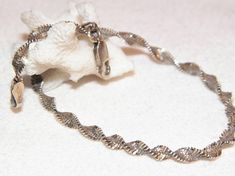 Sterling Silver Twist Style Bracelet Made In Italy Vintage