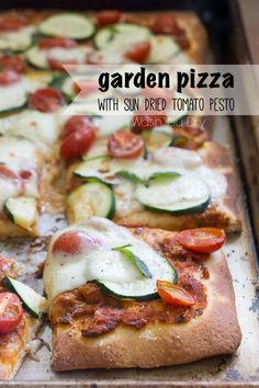 Toss summer veggies on top of a quick-cooking pizza crust for a foolproof weeknight dinner from blogger I Wash, You Dry. This Garden Pizza uses sun-dried tomato pesto, zucchini, grape tomatoes, mozzarella cheese and fresh basil leaves. Every slice is filled with goodness!