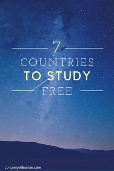 7 Countries Where Foreign Students Can Study For Free/Almost Free