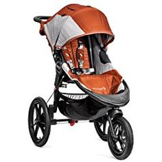 Baby Jogger Summit X3 Single Jogging Stroller, Orange/Gray