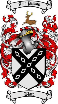 blair family crest blair coat of arms gifts available at WWW.4CRESTS.COM #heraldry #family #crest #shield #crests #shields #genealogy #coatofarms
