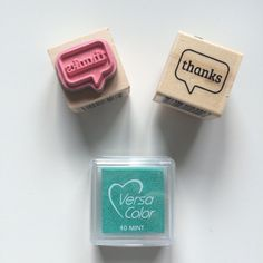 Stempel Thanks - tekstballon
