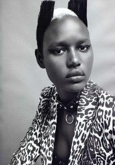 Ajak Deng for I-D Spring 2011, fashion editorial, photography, inspiration, black model