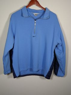 Nike Sweater Girls 12 - 14 Large Blue 1/2 Zip Contrasting Back Pullover #Nike #Pullover #OutdoorEveryday