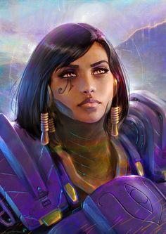 Pharah - Overwatch Portrait, Oliver Wetter on ArtStation at https://www.artstation.com/artwork/2Q1yA