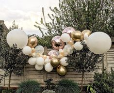 Balloon garland rose gold balloons