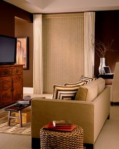 Living Room Room Ideas #Hunter_Douglas #Living_Rooms #Living_Room_Ideas #Window_Treatments #HunterDouglas