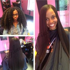 STYLIST FEATURE| Love this #silkpress #transformation done by #DMVStylist @Glenn_Hairartist87I love her hair both ways Her hair is all natural and it's silked to perfection #VoiceOfHair ========================= Go to VoiceOfHair.com ========================= Find hairstyles and hair tips! =========================