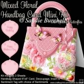 Mixed Floral Handbag Card Mini Kit
