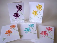 Qbee's Quest: Lotus Blossom Note Cards Tutorial