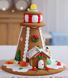 It looks really simple but it probably is still really hard..... Gingerbread Lighthouse