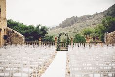 Beautiful courtyard of old finca in Alaro, perfect setting for the ceremony Photograph by Violeta Minnick Photography