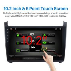 10.2 Inch 1024*600 Android 6.0 2011-2015 VW Volkswagen Polo Car Audio Stereo GPS Navigation with 1080P Video Bluetooth Music RDS Radio Mirror Link 4G WIFI Steering Wheel Control