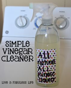 Simple Vinegar Cleaner (All Purpose): 2 cups vinegar + 4 cups HOT water + 1/4 cup lemon juice. Put into spray container. Shake well.