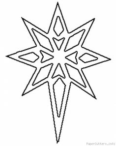 Images of the Christmas Star Wood Crafts, Christmas Crafts, Christmas Decorations, Paper Crafts, Christmas Ornaments, Kirigami, Christmas Stencils, Christmas Templates, Christmas Colors
