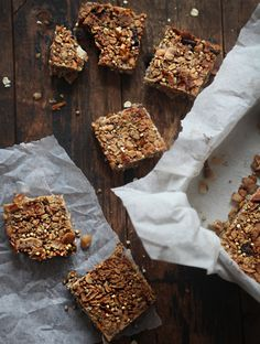 Chewy Granola Bars- the healthy kind. With chia seeds, even some buckwheat. Dairy-free, all whole food. Must make soon!