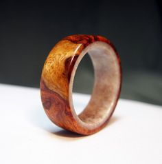 Wooden Ring Lined with Deer antler Amboyna Burl Wood by OriginHG Amboyna Burl, How To Make Rings, Ring Pictures, Wood Rings, Deer Antlers, One Ring, Wooden Jewelry, Making Ideas, Jewelry Stores