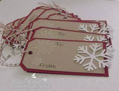 Snowflake Holiday Gift Tags by CMU1999 - Cards and Paper Crafts at Splitcoaststampers
