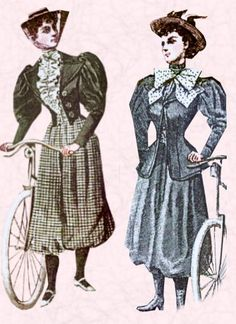 Rational Dress Reform, Victorian Bloomers and Cycling Costumes - Fashion History, Costume Trends and Eras, Trends Victorians - Haute Couture Victorian Women, Victorian Fashion, Edwardian Era, Vintage Fashion, Cycling Suit, Cycling Clothes, Cycling Outfits, Bike Suit, Pants Drawing