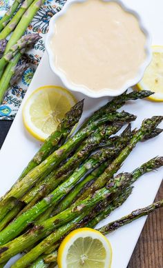 Grilled Asparagus with Wasabi-Soy Dipping Sauce #SplendaSweeties / #SweetSwaps/ @sp