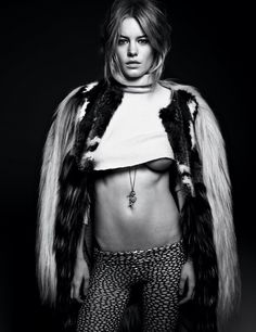 Camille Rowe poses for Interview Magazine!