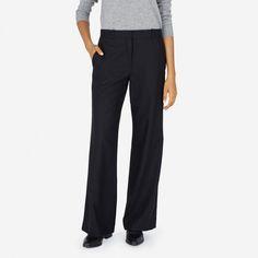 The Premium Wool Flannel Full Leg Pant - Everlane